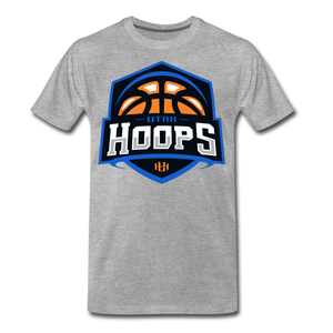 Utah Hoops Adult's Premium T-Shirt - heather gray