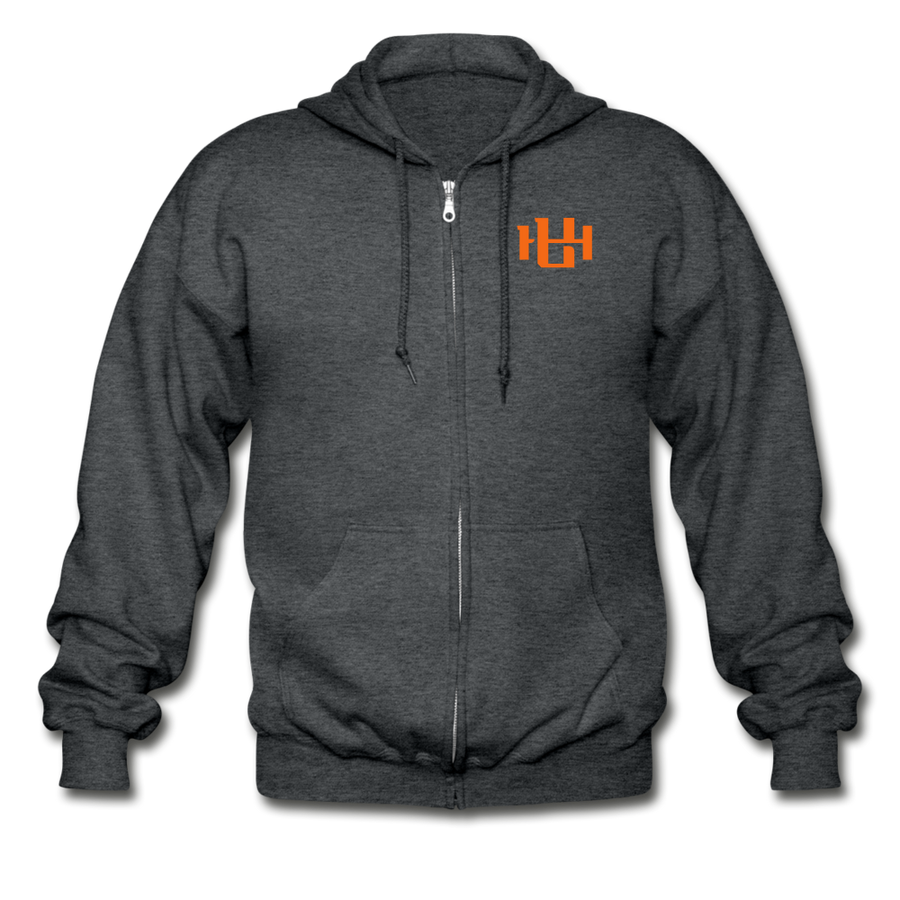 Utah Hoops™ Heavy Blend Adult Zip Hoodie - deep heather