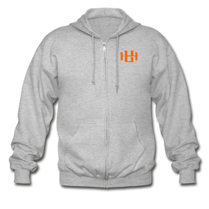 Utah Hoops™ Heavy Blend Adult Zip Hoodie - heather gray