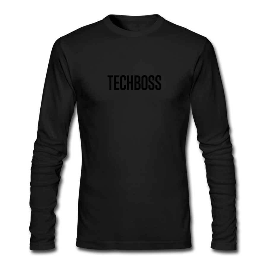 TECHBOSS® Black Badge Men's Long Sleeve T-Shirt (LIMITED EDITION) - black