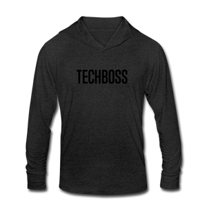 TECHBOSS® Black Badge Tri-Blend Hoodie Shirt (EXCLUSIVE) - heather black