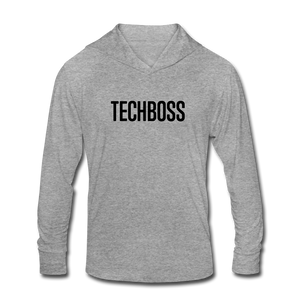 TECHBOSS® Black Badge Tri-Blend Hoodie Shirt (EXCLUSIVE) - heather gray