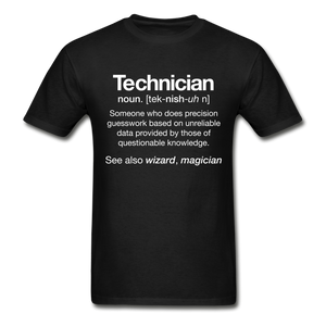 Technician Definition Short Sleeve Ultra Cotton T-shirt - black