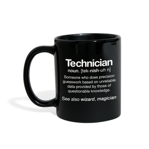 Technician Definition Mug - black