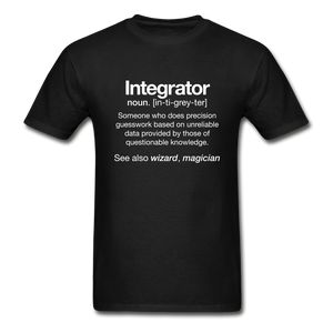AV Integrator Definition Short Sleeve T-shirt - black