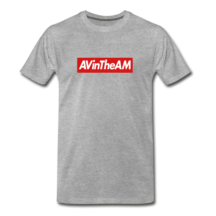 AVinTheAM RED Premium T-Shirt - heather gray