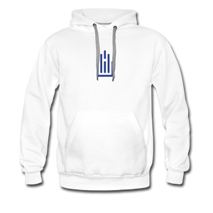 Higher Ed AV Podcast Blanc Premium Hoodie - white