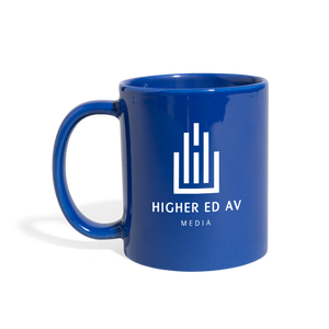 Higher Ed AV Podcast Mug - royal blue