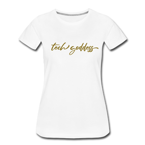tech goddess® Women's Premium T-Shirt (MULTIPLE COLORS) - white