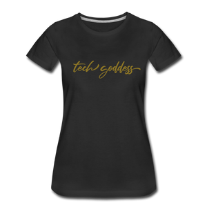 tech goddess® Women's Premium T-Shirt (MULTIPLE COLORS) - black