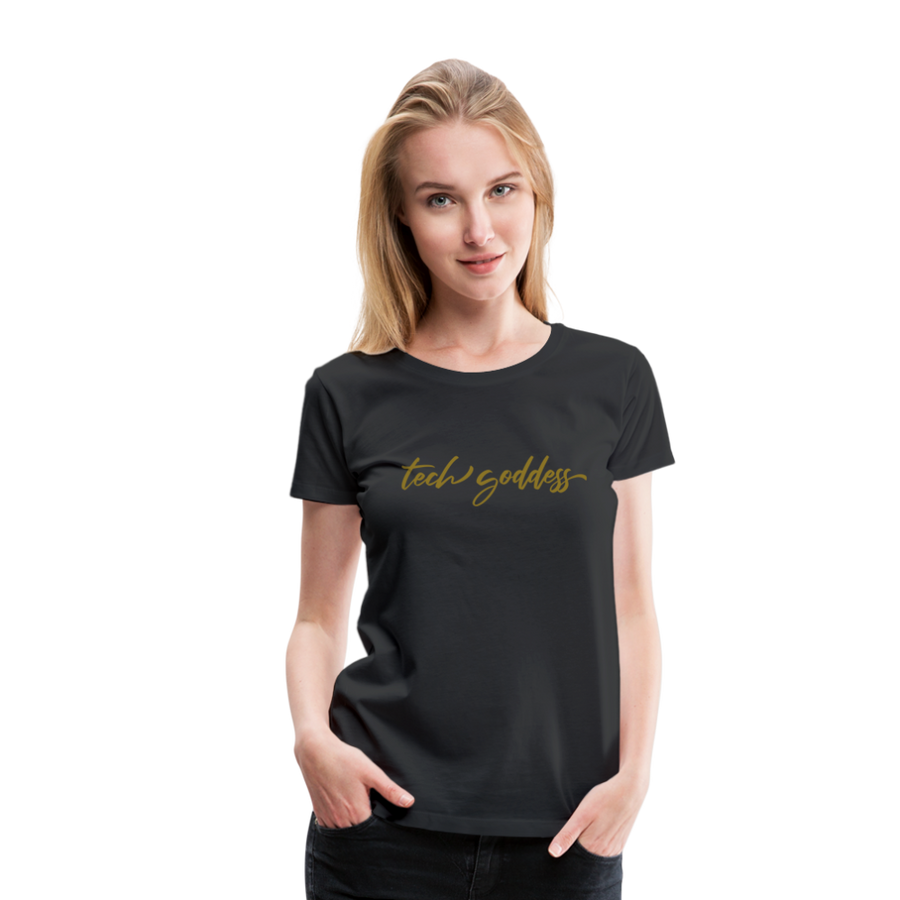 tech goddess® Metallic Women's Premium T-Shirt (MULTIPLE COLORS)