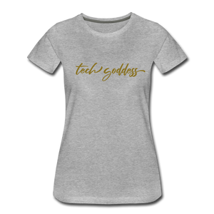 tech goddess® Women's Premium T-Shirt (MULTIPLE COLORS) - heather gray