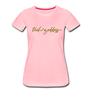 tech goddess® Women's Premium T-Shirt (MULTIPLE COLORS) - pink