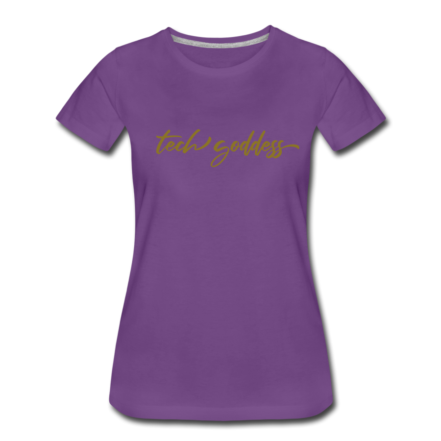 tech goddess® Women's Premium T-Shirt (MULTIPLE COLORS) - purple
