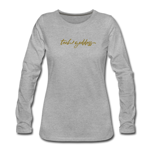 tech goddess® Women's Premium Long Sleeve T-Shirt (MULTIPLE COLORS) - heather gray