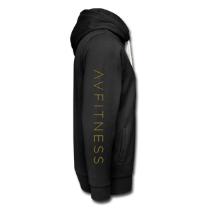 AVFITNESS Premium Metallic Shawl Collar Hoodie - black