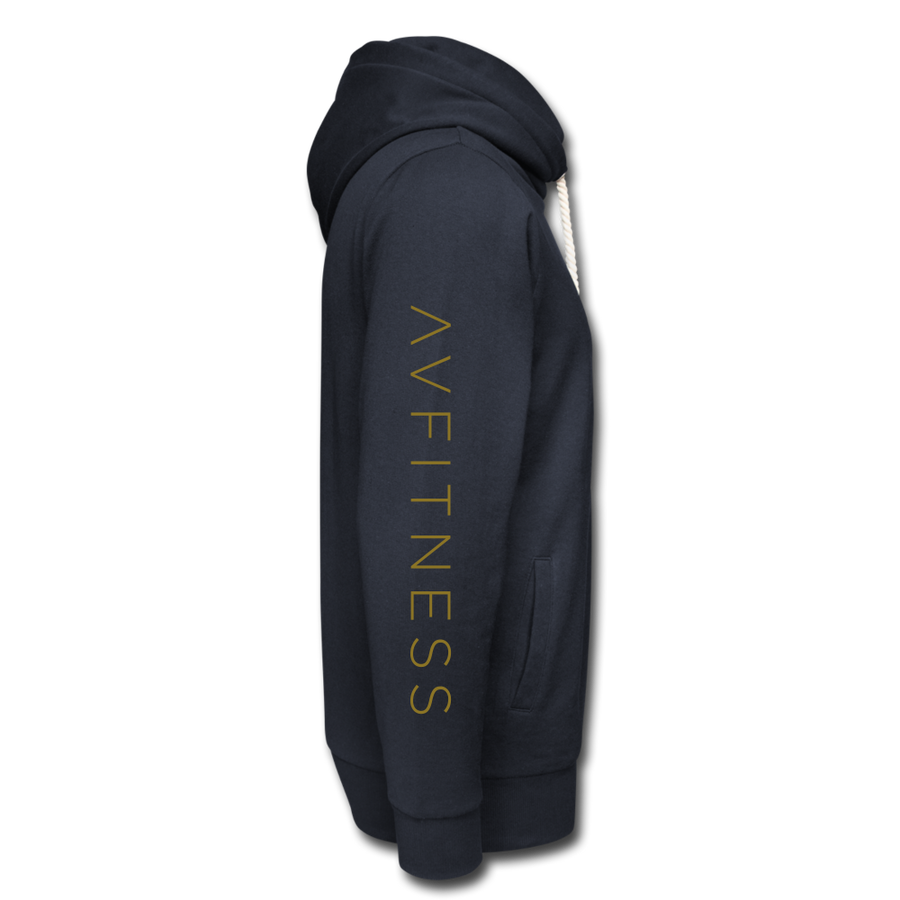 AVFITNESS Premium Metallic Shawl Collar Hoodie - navy