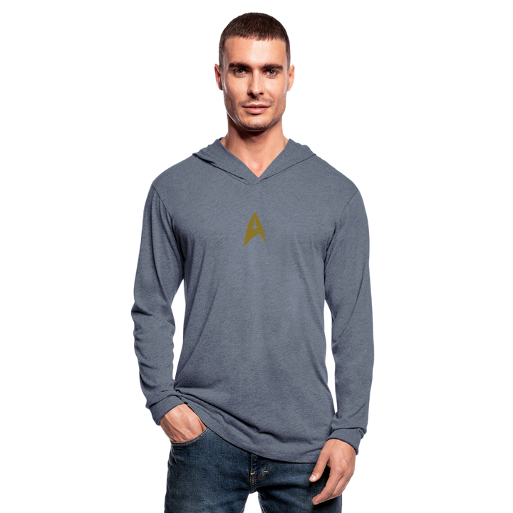 Star Trek Discovery Tri-Blend Hoodie Shirt - heather blue