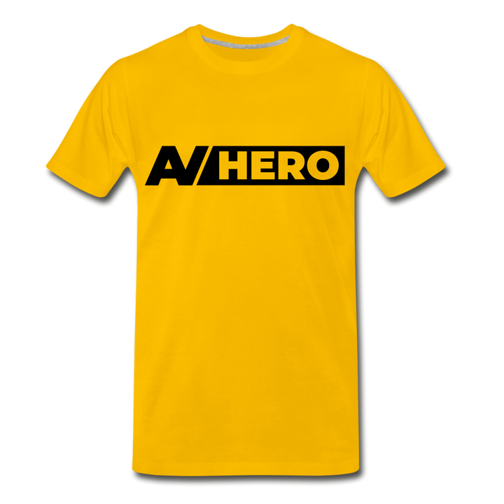 AV HERO Yellow Premium T-Shirt - sun yellow