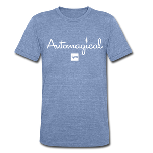 TYM Automagical™ Unisex Tri-Blend T-Shirt (EXCLUSIVE) - heather Blue