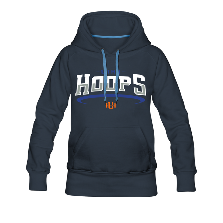Utah Hoops™ Adult Women's Premium Hoodie - navy