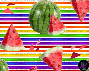 Rainbow Stripes - Watermelon's