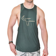 Fitness Tanktop in camogrün, Frontansicht
