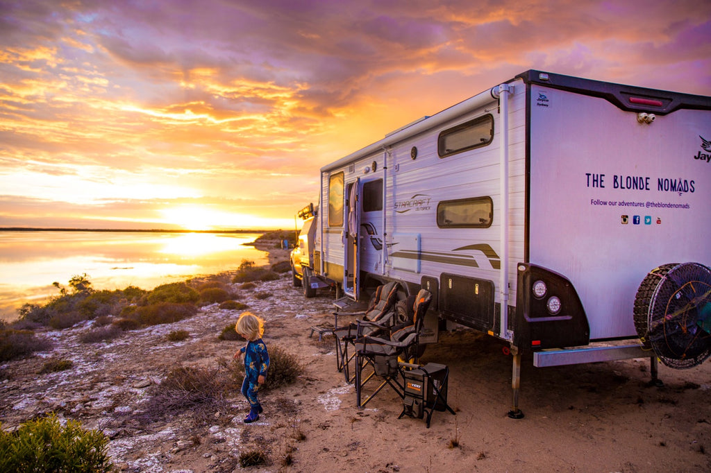 Camper travel family