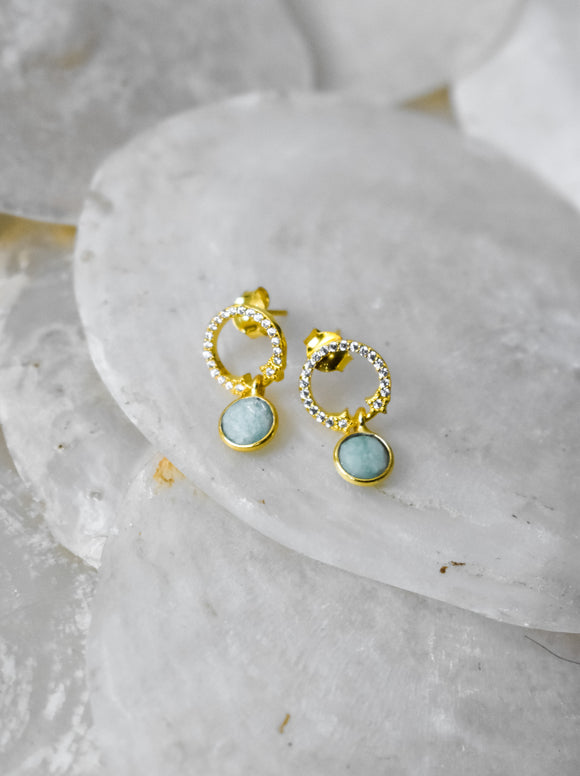 amazonite post  Earrings