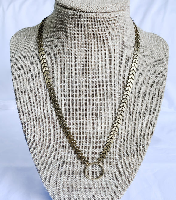 Chevron Chain Every Day Necklace