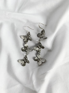 Sterling Butterfly Earrings