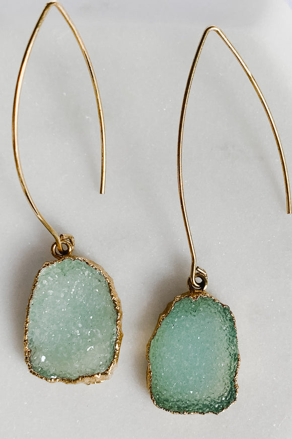 Chalcedony Druzy Earrings