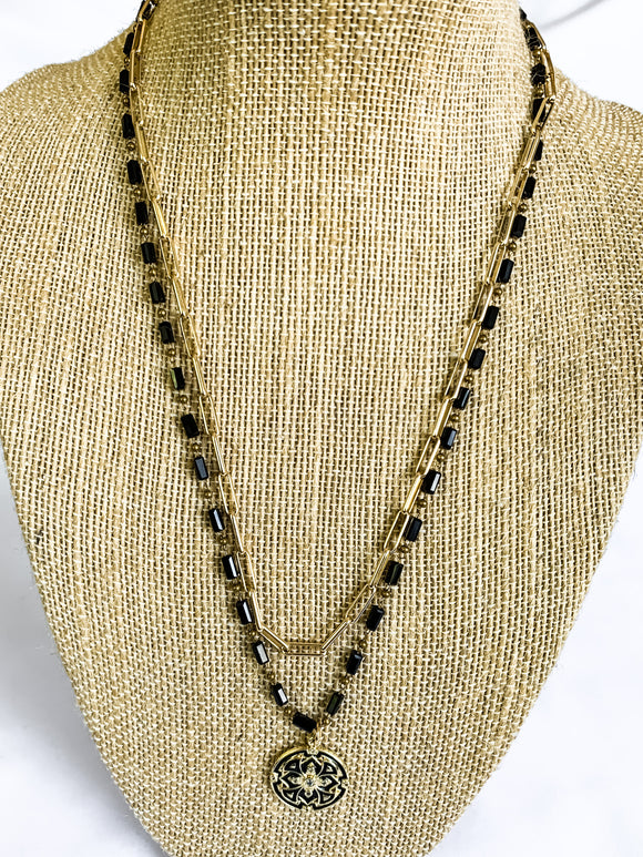 1. Black Layered Chain Necklace