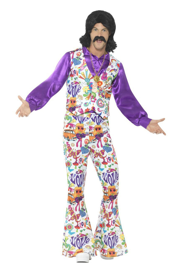 60s Groovy Hippie Men's Costume