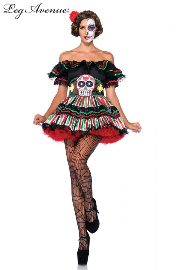 Day of The Dead Doll Womens Costume