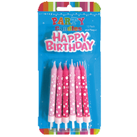 Happy Birthday and Spotty Candles
