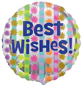 Best Wishes Flowers Balloon