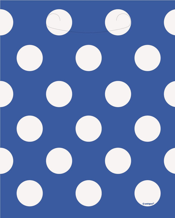 Blue Polka Dot Loot Bags