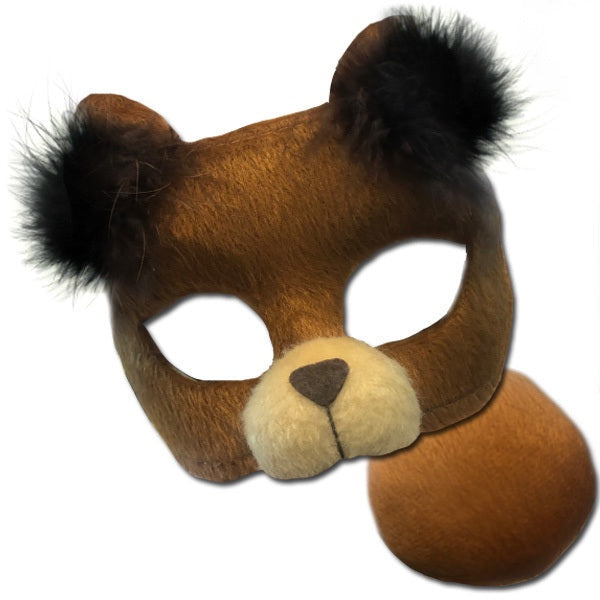 Brown Bear Deluxe Mask and Tail Set