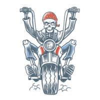 Biker Born to Ride Temporary Tattoo