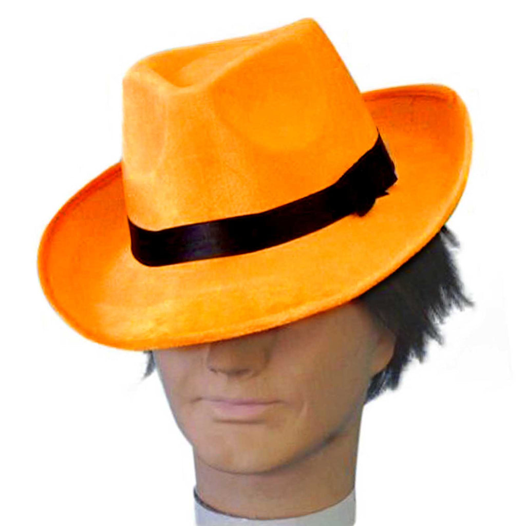 Orange Fedora Hat
