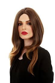 First Lady (Melania Trump) Long Brown Costume Wig