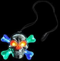 Flashing Skull and Cross-bone Necklace