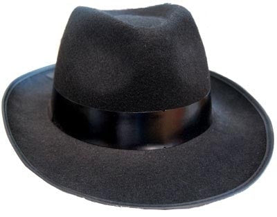 Black Feltex Gangster Hat