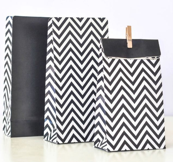 Illume Chevron Black Treat Bags