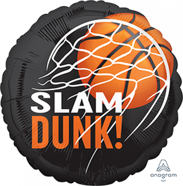 Slam Dunk Basketball Foil Balloon