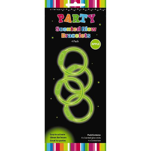 Scented Glow Bracelets 4 Pack Apple