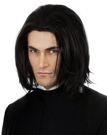 Dark Professor Black Wig