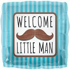 Welcome Little Man 18 inch Foil Balloon