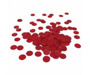 Apple Red Round Paper Confetti 15g